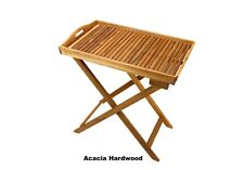 Butlers Tray Acacia Hardwood Butler's Folding Table with Outdoor Paint - Natural