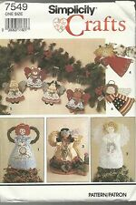 SIMPLICITY CRAFTS 7549 ANGEL TREE TOPPER STANDING DECORATION ORNAMENTS PATTERNS