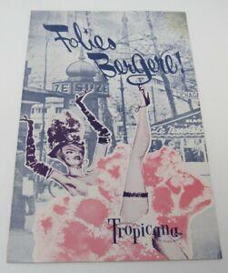 Rare 1961 Folies Bergere Program PLUS Intro Oriental Flyer Tropicana Las Vegas