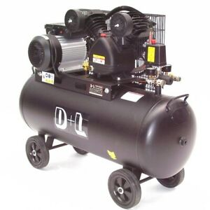 Druckluft Kompressor Kolbenkompressor 44315 V-Zylinder Kessel 100 Liter 10 bar
