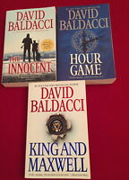 David Baldacci 3 Novels Hour Games King and Maxwell The Innocent Paperback Lot