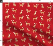 New listing Chihuahua Pet Quilt Dog Breed Cheater Coordinate Spoonflower Fabric by the Yard
