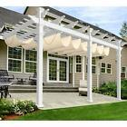 Windscreen4less Outdoor Retractable Shade Awning Cover for Pergola Deck Patio