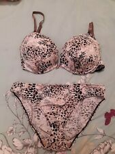 Lovely Animal Print Bra 36D And Briefs 14 By O Lingerie