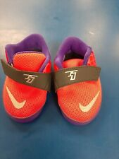 Nike KD Kevin Durant VII Infant Soft  Crib Shoes Orange Purple reflective sz 4