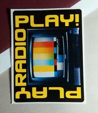 PLAY RADIO PLAY ! THE FREQUENCY 3x4 MUSIC STICKER