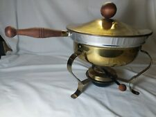 Vintage Food Warmer Chafing Fondue Soup Cheese Pot Dish