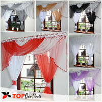 Amazing Voile Net Curtains Ready Made with Swags Pelmet Valance Living Room New