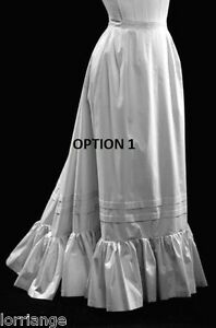 AMERICAN CIVIL WAR/VICTORIAN CUSTOM MADE PETTICOAT ALL SIZES CHOOSE COLOUR