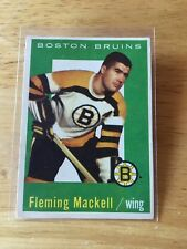 Topps hockey 1959-60 Flem Mackell Boston Bruins card # 19