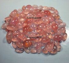 500 CT WHOLESALE LOT NATURAL PINK ROSE QUARTZ MIX CABOCHON HOT TOP GEMSTONE AAA