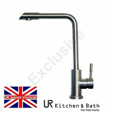 TAP KITCHEN SINK MIXER MODERN SINGLE HANDLE LEVER TAP WITH SATIN FINISH URT37KB