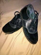Boys Black Nike Air Franklin Cole Haan Saddle Shoes Sz 3 Leather & Suede