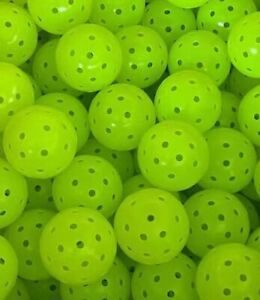 No Name PickleBalls - 12 Count - NEON GREEN - Long Lasting - Stay Round
