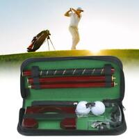 Portable Golf Putter Set with PU Case Training Trainer Tool Golf Equipment Kit