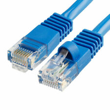 50 ft Ethernet Cable Cat5e Cat5 LAN Patch Network Snagless Cord 50 Foot - Blue