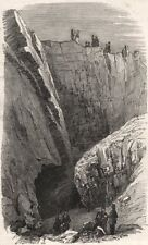 The Ten-Yard open coal-seam at Dudley. Worcestershire, antique print, 1849