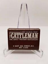 Matchbook The Cattleman Adult Western Restaurant Vintage Matchbooks MO