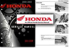 Servicio De Honda CR125R Manual de taller reparación tienda CR 125 R 2000 a 2003 CR125