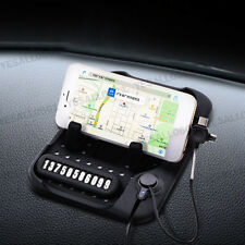 Car Phone Holder Dashboard Mat Stand USB Charger Non-Slip Pad with Number Kit