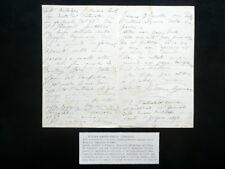 Autografo Vittoria Aganoor Pompilij Lettera Oderzo 1/6/1893 Poesia Letteratura