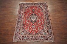 $1 NR 8X11 Persian Kashan Excellent Condition Antique Area Rug Hand-Knotted Wool