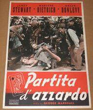 fotobusta film DESTRY RIDES AGAIN - PARTITA D'AZZARDO Marlene Dietrich J.Stewart