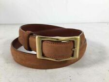 Coach Brown Gold Leather Women's Angled Buckle Belt Size M