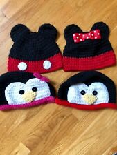 Knit Hats Girl & Boy-Disney Mickeys and Penguins.