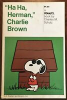 """HA HA, HERMAN,"" CHARLIE BROWN : ~ A Peanuts Book by Charles M. SCHULZ : 1st. 72"