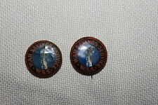 TWO- WW1 U.S. HOMEFRONT ''WAR SAVINGS SERVICE '' BUTTONS, MAKER MARKED