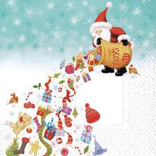 20 Servietten  Serviettentechnik Santas Rain Weihnachten Winter CL 33x33