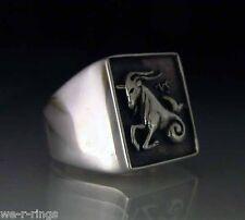 Sterling Silver .925   Capricorn Zodiac Ring     RG11/S
