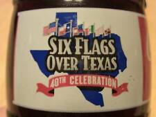 Six Flags Over Texas 40th anniversary coke bottle