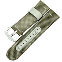 New 20mm Green Military Army Canvas Nylon Fabric Wrist Watch Band Strap Buckle