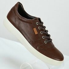 ECCO Mens Soft 7 Oxfords Size Eur 42/US 8-8.5 Extra Width Brown Leather Shoes