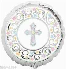 BLESSED DAY RELIGIOUS FOIL BALLOON CHRISTENING CONFIRMATION PARTY DECORATION