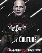 Randy Couture Signed 8x10 Photo BAS Beckett COA Bellator UFC Promo Picture Auto