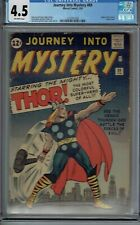 CGC 4.5 JOURNEY INTO MYSTERY #89 SUPER CLASSIC THOR COVER 1963 7TH APP OW PAGES