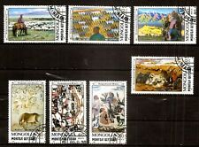 painting Mongolia 1989 Mi 2079-2085 FULL STAMP SET CTO USED