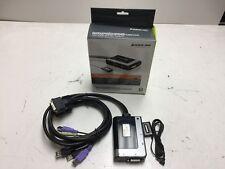 IOGear 2-Port USB DVI-D Cable KVM with Audio and Mic (GCS932UB)