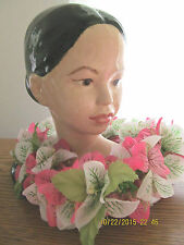 READY TO PAINT BISQUE HAWAIIAN LADY BUST (from discontinued mold)