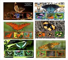 2010 BUTTERFLIES INSECT 10 SOUVENIR SHEETS MNH IMPERFORATED butterfly part3