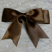 """25 X 95mm Large Double Bows Satin Ribbon Bows With Tails  - 4"""" wide Beautiful"""