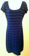 NWT Womens Max Studio Blue Ruffle Maxi Dress size M