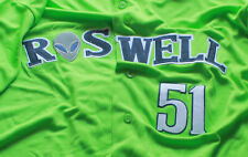 2020 Roswell Invaders Majestic Bright Lime Green Jersey Tackle Twill #51 Size XL