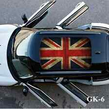 Union Jack Checkerboard Car Moon Roof Decoration Sticker For Mini Cooper