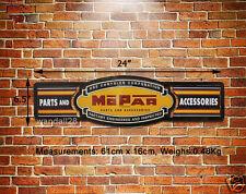 MOPAR Racing Parts Accessories Embossed Metal Sign Decor Garage Auto Advert