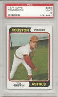 SET BREAK - 1974 TOPPS #256 TOM GRIFFIN, PSA 9 MINT,  HOUSTON ASTROS, L@@K