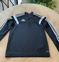 ADIDAS Youth Size Large Long Sleeve Pullover Top Shirt Black Logo